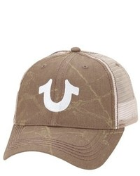 Gorra de béisbol estampada marrón