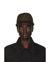 Gorra de béisbol estampada marrón de Fendi