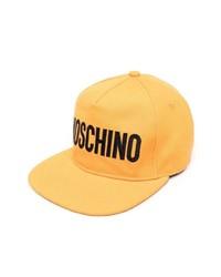 Gorra de béisbol estampada naranja de Moschino