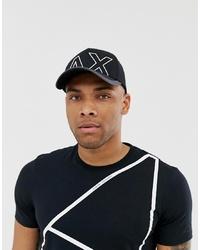 Gorra de béisbol estampada negra de Armani Exchange