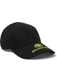 Gorra de béisbol estampada negra de Balenciaga
