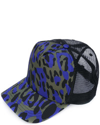 Gorra de béisbol estampada negra de DSQUARED2