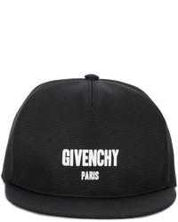 Gorra de béisbol estampada negra de Givenchy