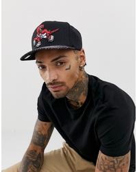 Gorra de béisbol estampada negra de Mitchell & Ness