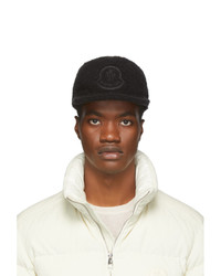 Gorra de béisbol estampada negra de Moncler Genius