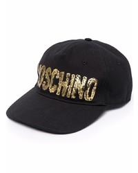 Gorra de béisbol estampada negra de Moschino