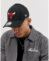Gorra de béisbol estampada negra de New Era