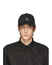 Gorra de béisbol estampada negra de Raf Simons