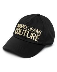 Gorra de béisbol estampada negra de VERSACE JEANS COUTURE