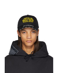 Gorra de béisbol estampada negra de Vetements