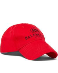 Gorra de béisbol estampada roja de Balenciaga