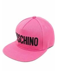Gorra de béisbol estampada rosa de Moschino