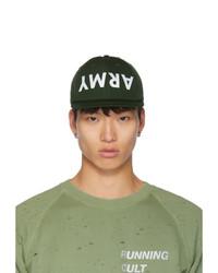 Gorra de béisbol estampada verde oscuro de Satisfy