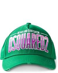 Gorra de béisbol estampada verde de DSQUARED2
