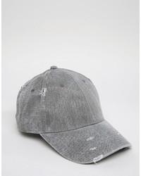 Gorra de Béisbol Gris de Asos