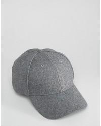 Gorra de béisbol gris de Selected