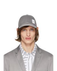 Gorra de béisbol gris de Thom Browne