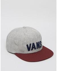 Gorra de béisbol gris de Vans