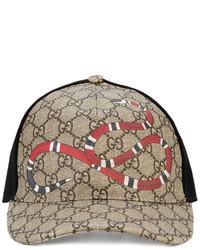 Gorra de béisbol marrón claro de Gucci