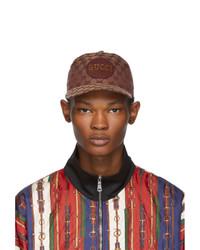 Gorra de béisbol marrón de Gucci