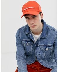 Gorra de béisbol naranja de ASOS DESIGN