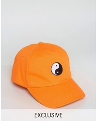 Gorra de béisbol naranja de Reclaimed Vintage