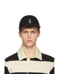 Gorra de béisbol negra de AMI Alexandre Mattiussi