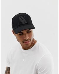 Gorra de béisbol negra de Armani Exchange