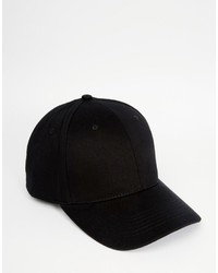 Gorra de Béisbol Negra de Asos