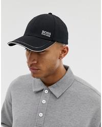 Gorra de béisbol negra de BOSS
