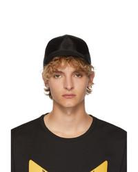 Gorra de béisbol negra de Fendi