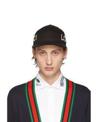Gorra de béisbol negra de Gucci