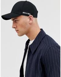 Gorra de béisbol negra de Jack & Jones