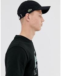 Gorra de béisbol negra de Lacoste
