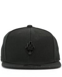 Gorra de béisbol negra de Marcelo Burlon County of Milan