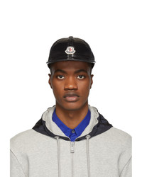 Gorra de béisbol negra de Moncler