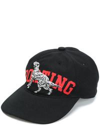 Gorra de béisbol negra de MSGM