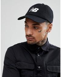 Gorra de béisbol negra de New Balance