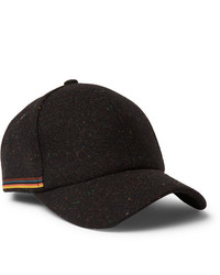 Gorra de béisbol negra de Paul Smith