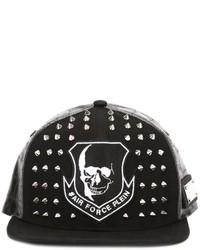 Gorra de béisbol negra de Philipp Plein