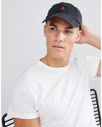 Gorra de béisbol negra de Polo Ralph Lauren