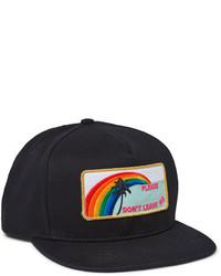 Gorra de béisbol negra de Saint Laurent