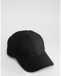 Gorra de béisbol negra de Selected