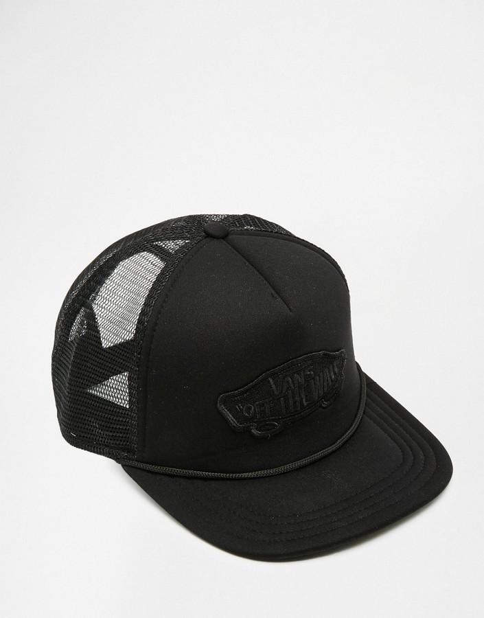 ... negras Gorra de béisbol negra de Vans ... 4117b61b9b2