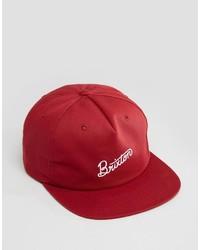 Gorra de béisbol roja de Brixton