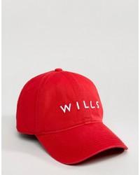 Gorra de Béisbol Roja de Jack Wills