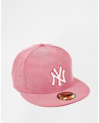 Gorra de béisbol roja de New Era