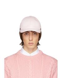 Gorra de béisbol rosada de Thom Browne