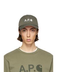 Gorra de béisbol verde oliva de A.P.C.