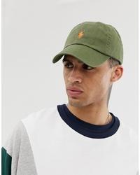 Gorra de béisbol verde oliva de Polo Ralph Lauren